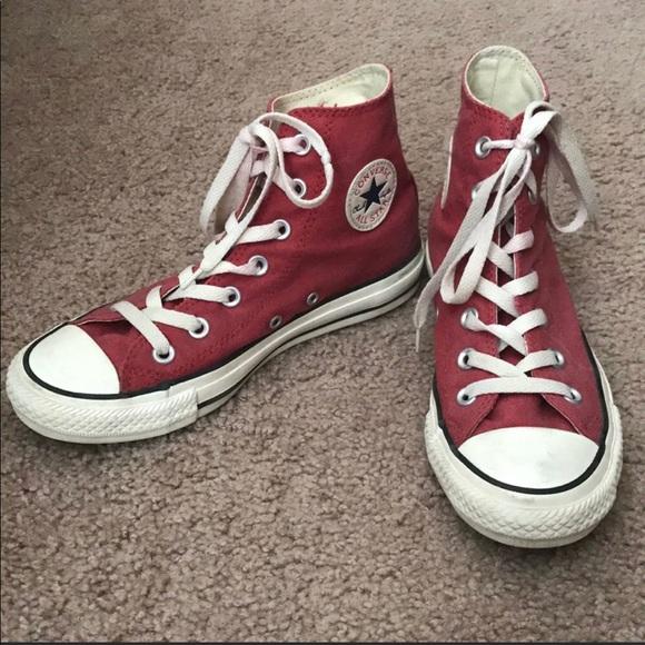 Dark Red HighTop Converse